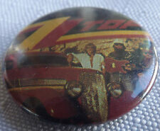 "ZZ TOP Old Vtg 1980`s  Button Pin Badge(25mm-1"") #NB.129"
