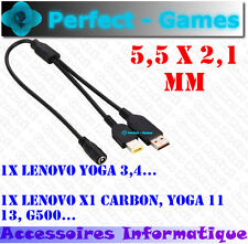 power converter adaptater cable 5.5X2.1mm LENOVO X1 Carbon YOGA 11 13 YOGA 3 4