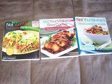 Set of 3 Not Your Mothers Slow Cooker Cookbook  MSRP $53.85