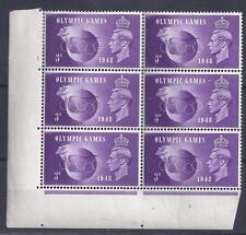 GB, 1948 KGV1, 3d OLYIMPIC GAMES ISSUE, SG 496, 496a RETOUCHED, SEE GIBBONS