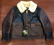 RJL LTD Type ANJ-4 Shearling Jacket By Simmons Bilt Leather Horween Horsehide 42