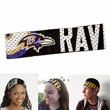 New NFL Baltimore Ravens Fanband Jersey Headband Head-Band by Little Earth