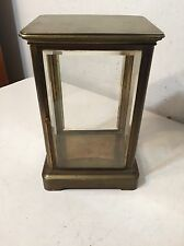 Antique French Brass & Glass Crystal Regulator Clock Case Repurpose Display