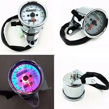 Custom LED Backlight Signal Motorbike Motorcycle Odometer KMH Speedometer Gauge