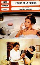 CARTE FICHE CINEMA 1969 L'OURS ET LA POUPEE Brigitte Bardot Cassel Deville