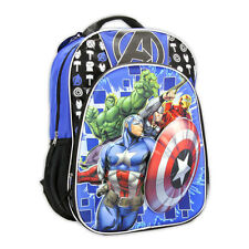 "MARVEL 3D Pop-Out AVENGERS IRON MAN HULK THOR School 16"" Backpack bookBag Bag NW"