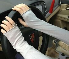 Soft Stretchy Long Sleeve Fingerless Gloves Cashmere Arm Warmers Sleeves