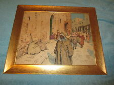 Vintage Tavik Frantisek T.F. Simon Colored Etching Numbered and Signed