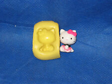 Sitting Hello Kitty Push Mold Flexible Resin Clay Candy Food Safe Silicone  #27