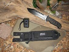 M-tech Knife/Bowie/Full tang/Tools/Compass/Flint/M.O.L.L.E/Survival kit/Zombie
