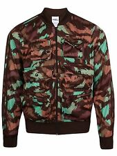 Mens Adidas Jeremy Scott Fisherman Track Jacket Medium Dark Brown Camo AC1903