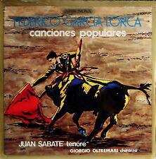 FEDERICO GARCIA LORCA - Canciones Populares 1975 LP SIGILLATO RARITA' ASSOLUTA