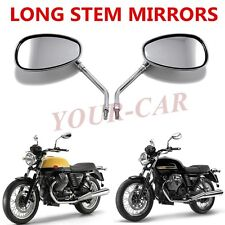 US CHROME MOTORCYCLE OVAL REARVIEW MIRRORS FOR HONDA SUZUKI YAMAHA KAWASAKI 10MM