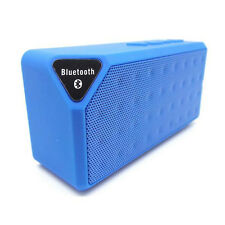Blue Boombox Wireless Bluetooth Bass Speaker Mic For Samsung iPhone PC Laptop