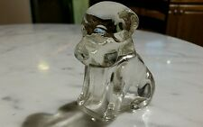 Vintage Federal Glass Dog Candy Container 1930s 1940s