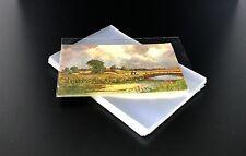 100pz BUSTA TRASPARENTE LUCIDA x CARTOLINE ANTICHE formato piccolo 150 x 100 mm