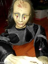 Life Size Creppy Crawler Animated Zombie Girl -See Video