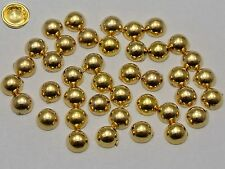 1000 Gold Tone Acrylic Round Dome Tiny Studs 4mm No Hole Cell Phone Bow Center