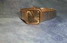 Vintage TIMEX Women's WATCH, Wind Up, Pretty Gold Tone Band, Square Tinted Face