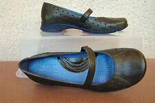"Pre-Owned INDIGO by CLARKS Leather Man Made Green Metallic1 1"" Heel Shoe Size 6M"