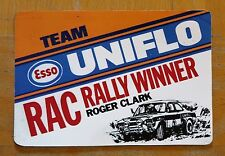Team Esso Uniflo RAC Rally Winner Roger Clark Escort Motorsport Sticker / Decal