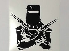 Ned Kelly Sticker Decal New In Your Choice of Colour Crossed Guns Outdoor Vinyl