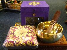 TIBETAN SINGING BOWL Purple 5.5 Inches BRASS Buddhism HEALING Yoga MEDITATION