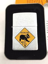 Roadsign Australia Koalas Road Sign Zippo Lighter New