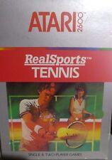 Atari VCS 2600 RealSports Tennis (Modul, Anleitung, Verpackung)