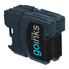 2 Black Ink Cartridges for Brother DCP-J125, DCP-J140W, DCP-J315W, DCP-J515W