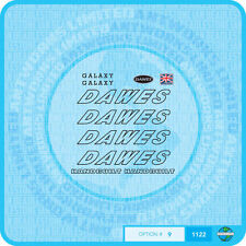 Dawes Galaxy Decals Bicycle Transfers - Black - Set 9