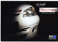 Peugeot 106 Rallye 1.6 Limited Edition 1997-98 UK Market Sales Brochure
