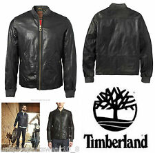 TIMBERLAND MOUNT WEBSTER GENUINE LAMBSKIN LEATHER BOMBER JACKET BIKER L £648
