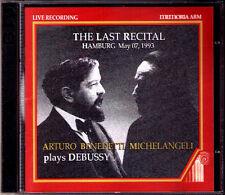 Arturo Benedetti MICHELANGELI The Last Recital 7 May 1993 DEBUSSY Images 2CD