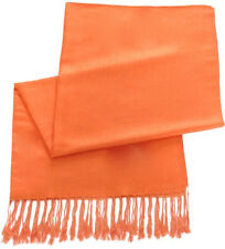 Orange Solid Colour Shawl Pashmina Scarf Wrap Stole Throw Shawls CJ Apparel NEW