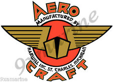 "Aero Craft Boat Decal. Vintage - 10""X8"" inch long."