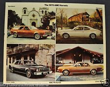 1975 AMC Hornet Large Postcard Sales Brochure Excellent Original 75