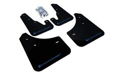 Rally Armor Mud Flaps Guards for 04-09 Mazda3 Mazdaspeed 3 (Black w/Blue Logo)