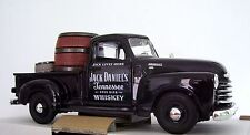 1950 3100 Chevy Pick Up Jack Daniels Custom Graphics Black Diecast + Barrels