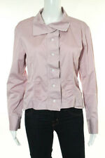 Louis Vuitton Light Pink Collared Crew Neck Long Sleeve Button Down Top Size 36