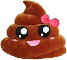 """USA SELLER LARGE PINK Emoji Poop Pillow 13"""" inch 33cm Smile Emoticon Poo Brown"""