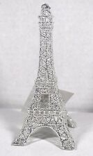 SILVER GLITTER EIFFEL TOWER CHRISTMAS TREE ORNAMENT HOLIDAY PARIS DECOR NEW!