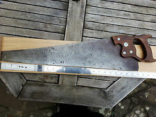"Vintage Hand Saw Carpenters Disston Canada  6T.P.I. 24""  S7H"