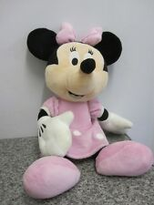 "DISNEY MINNIE MOUSE grand 18"" rose plush soft toy"