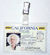 Back To The Future Emmett Brown ID Badge License Cosplay Prop Costume Comic Con