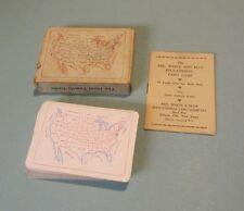 Red White & Blue US 48 State Playing Cards Game Deck Steel Pier Atlantic City