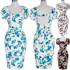Knee Length Vintage Style Rockabilly Retro Wiggle 50's 60s pinup Housewife Dress