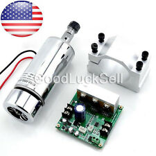 CNC 400W Spindle Motor ER11 & Mach3 PWM Speed Controller & Mount Engraving Set U
