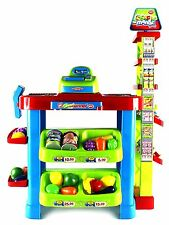 Super Market Pretend Play Toy Market Play Set w/ Toy Cash Register, Shopping Car