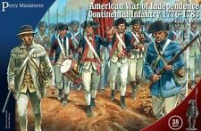 AMERICAN WAR OF INDEPENDENCE CONTINENTAL INFANTRY - PERRY MINIATURES - 28MM AWI
